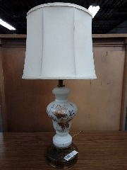 White lamp with gold leafs