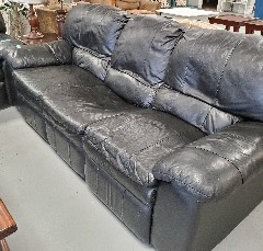 Couch-Black Leather