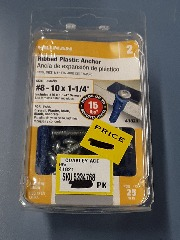 #8 - 10 x 1 1\/4 Ribbed Plastic Anchor