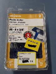 #6 - 8 x 3\/4 Plastic Anchors