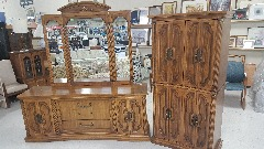 Dresser & Armoire Set
