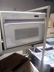 White electric GE microwave
