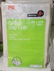 Canvas Drop Cloths 4' x 12'