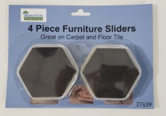 Carpet Furniture Sliders 4 per pack