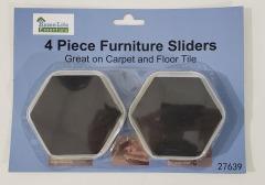 Carpet Furniture Sliders 4 per pack