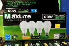 4-Pack 60 Watt Equivalent LED, 2700K Soft White