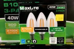 3-Pack 40 Watt Equivalent LED, E12 Base