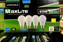 4-Pack 60 Watt Equivalent LED, 5000K Daylight
