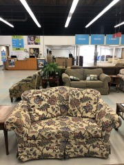 Tan Floral Couch item 58