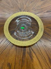 Glass Plate with Thick Gold Edging item 166