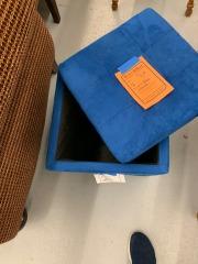 Blue Storage Ottoman item 193