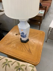 Lamp with Blue Flowers item 196