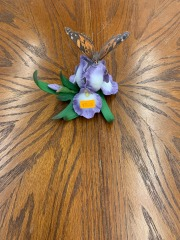 Ceramic Iris with Butterfly item 192