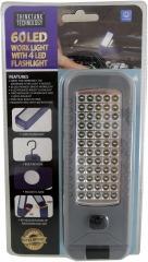 60 LED Work Light with 4 LED Flashlight and Magnetic Hook