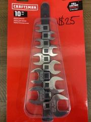 Craftsman 10pc Crowfoot Wrench Set