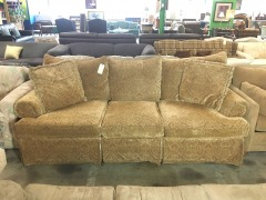 Plush Tan Sofa by Bernhardt
