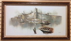 Wall Art: Boats in the Harbor