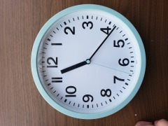 Mint Green Wall Clock item 216