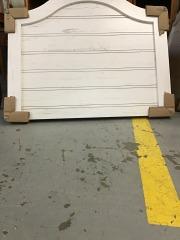 Twin size rustic white headboard