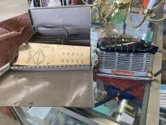 Vintage Dremel Electric Sander 20000 with original metal box. CIRCA 1950s