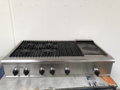 GENTLY USED Thermador Drop In Grill Stove Top  Model #PCS484GGUS