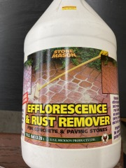 Efflorescence and Rust Remover for Concrete and Paving Stones