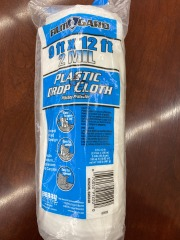 9ftx12ft plastic drop cloth