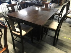 Bistro Style Dining Table with 5 Stools