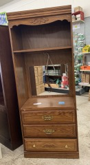 TV cabinet with 3 dresser drawers