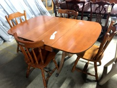 Double Drop Leaf Dining Table with 4 Chairs