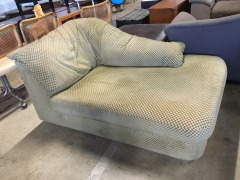 Heather Green Checkered Settee