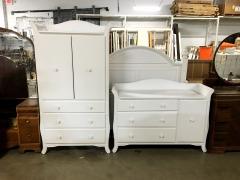 3-Piece White Bedroom Set