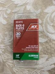 1\/8\u201d Back-up plates ALUMINUM 30pk