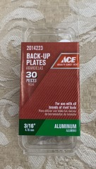 3\/16\u201d BACK-UP PLATES ALUMINUM 30pack