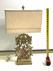 Ornamental square shade lamp with Shade