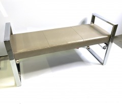 Bench with chrome sides