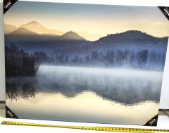 Mountian Water Scene Canvas