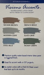 NEW 1\/2 GAL Paint Cinnamon \/ Wicker Brown EGGSHELL