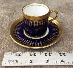 John Aynsley Hertford Cobalt Collection Teacup and Saucer Set
