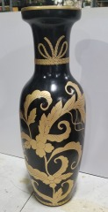 Ceramic Black and Gold Vase