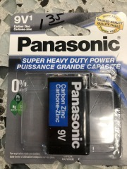 Panasonic 9 Vt 1 pack HD Carbon Zinc