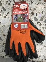 Orange Poly Work Gloves Coat - XL