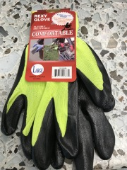 Neon Green Poly Work Gloves - Lrg