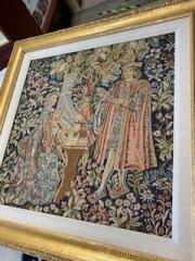 Victorian Tapestry framed