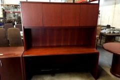 BRAND NEW Office Credenza with Hutch (Toffee)