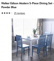 Walker Edison Modern 5pc Dining Set