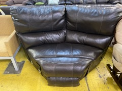 Black leather Sectional Wedge