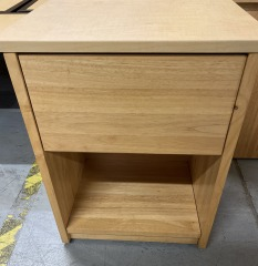 Blonde Colored Nightstand