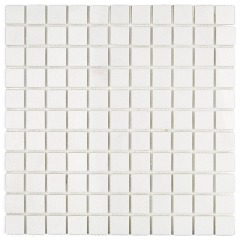NEW White Thassos Polished Marble Mat Tile (5 Sheets)