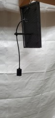 GENTLY USED Black Wall Light 15\
